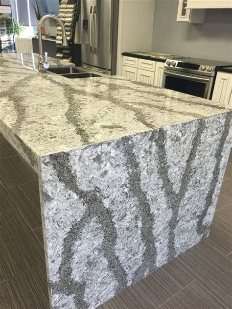 What Is A Quartz Countertop Made Of by Cambria Galloway Quartz Countertop Done With A Waterfall