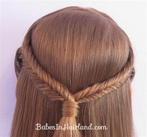 fishbonr breaid simple pulled back fishbone braids babes in hairland