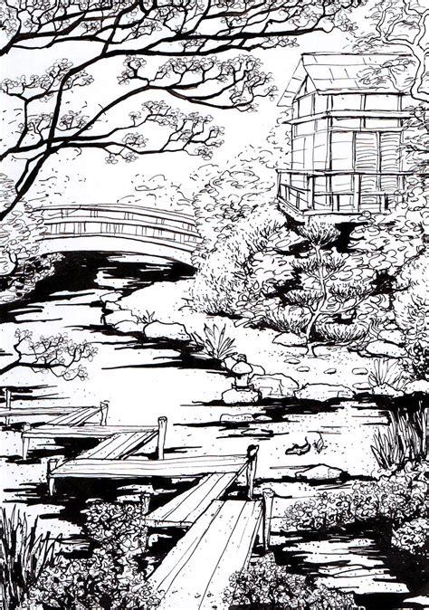japanischer garten zeichnung japanese garden by milaschuster on deviantart