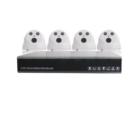 home security 4 channel cctv nvr kit 720p wired ip