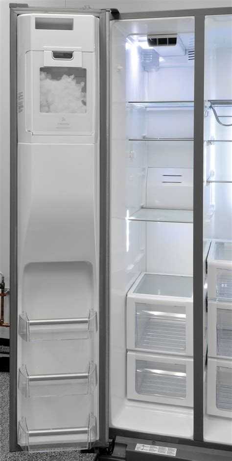 freezer section whirlpool wrs975sidm refrigerator review reviewed com