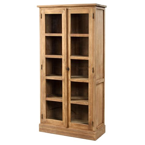 Glass Door Cabinets Lifestyle 2 Door Glass Cabinet Teak Raft Furniture