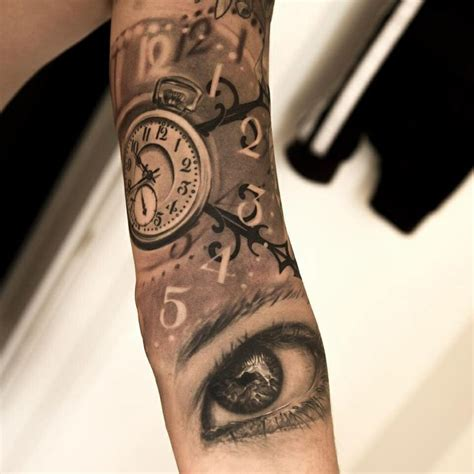 tattoo fixers eye clock eye and multiple clock tattoo tatoo horloge pinterest