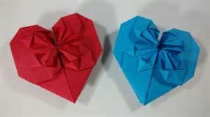 como hacer un corazon de papel facil san valentin como hacer un corazon de papel con petalos origami youtube