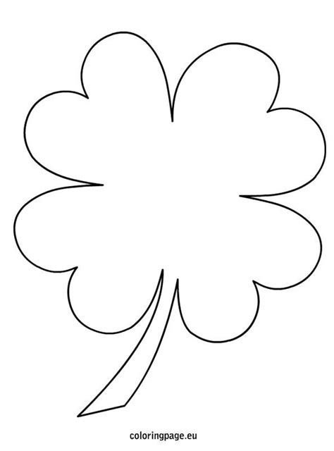templates for pages 4 4 4 leaf clover coloring page templates patterns