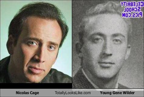 gene wilder look alike nicolas cage totally looks like young gene wilder