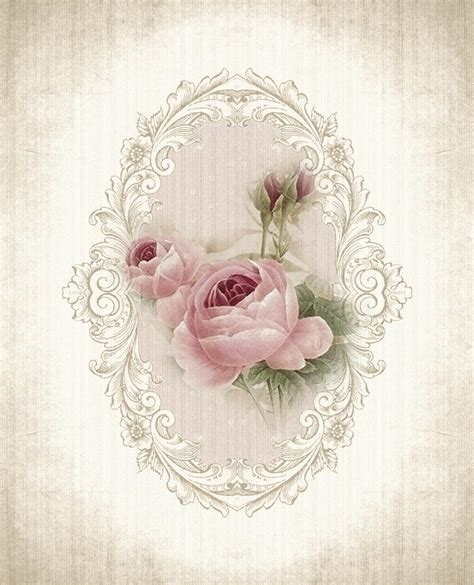 printable paper roses vintage rose printable beautiful pinteres