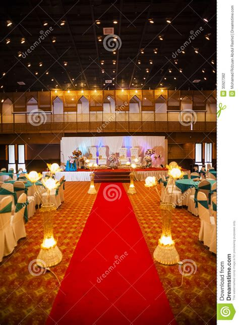 wedding hall decoration stock photography image