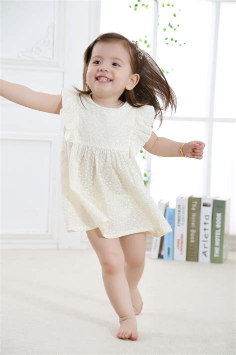 Dress Babycute Coksu 2017 new fashion baby dress toddler summer wear with printed flowers in 100