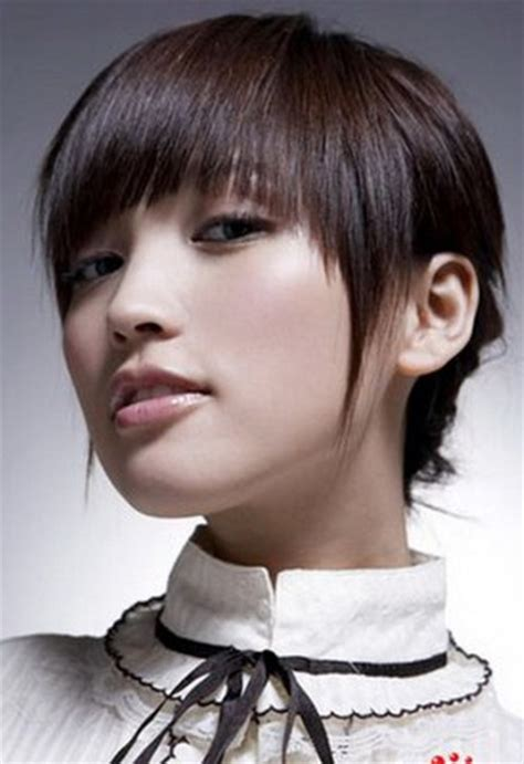 asian anime cut for round face short hairstyles for women circletrest