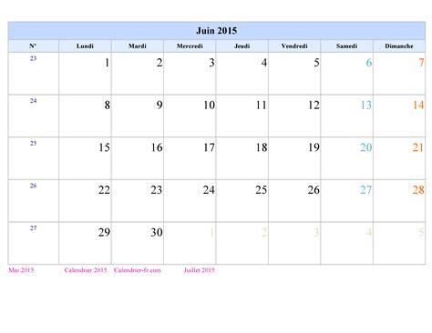 Calendrier Juin 2015 Calendrier Juin 2015 224 Imprimer Gratuit En Pdf Et Excel