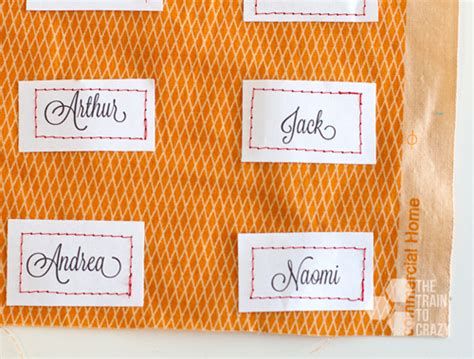 printable fabric name tags easy name place holders by the train to crazy skip to my lou