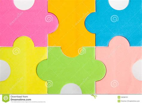 colorful puzzle pieces colorful blank puzzle pieces stock image image 39298701