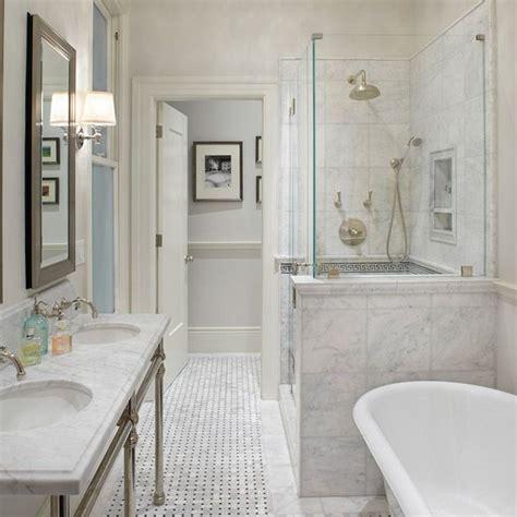 basketweave marble tile bathroom anyon interior design gorgeous master bathroom with