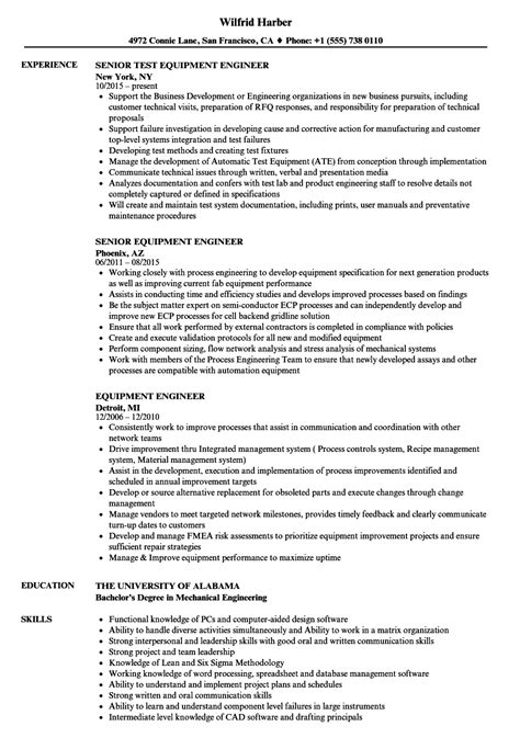 Advanced Semiconductor Engineer Sle Resume by Semiconductor Equipment Engineer Sle Resume Word Cv Templates Free