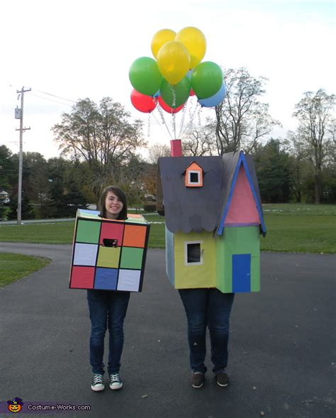 house painter costume rubiks cube and house from the movie up homemade halloween costumes