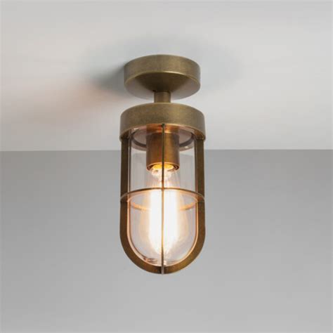 Ceiling Porch Lights Astro Cabin Ip44 Semi Flush Outdoor Ceiling Light Polished Nickel 7557 From Easy Lighting