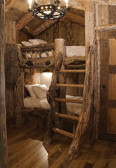 log cabin bunk beds log cabin bunk beds places spaces pinterest built in bunks cabin and built ins