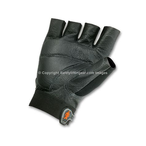 Glove Mpact Half Fingger Od half finger impact gloves 900 quot proflex quot safety lifting