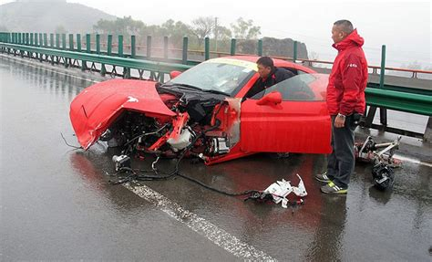 8 Ferrari Accident by Marchettino The Only Official Website Double Ferrari Crash