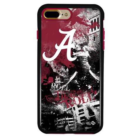 alabama crimson tide pd spirit hybrid case  iphone     guard glass screen