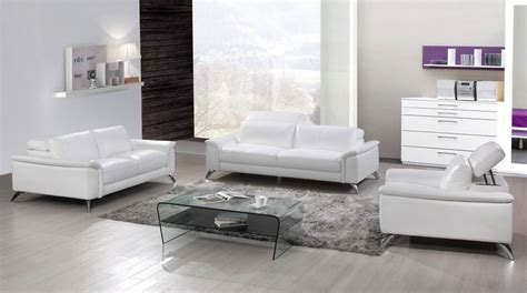 White Leather Living Room Sets Gorgeous White Top Grain Leather Three Living Room Set San Francisco California Esf S486