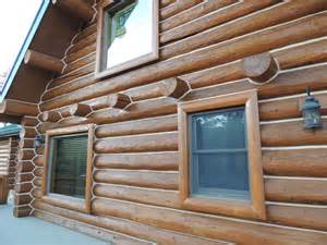 Log home exterior stain colors colorado log home finished with capture