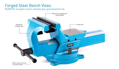 forged steel bench vise forged steel bench vises vises capri tools