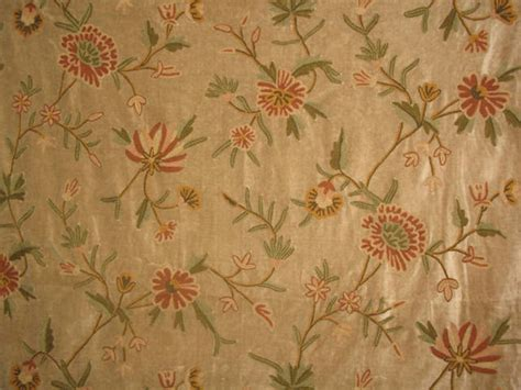 victorian upholstery fabric crewel fabric warsi coral brown cotton velvet victorian