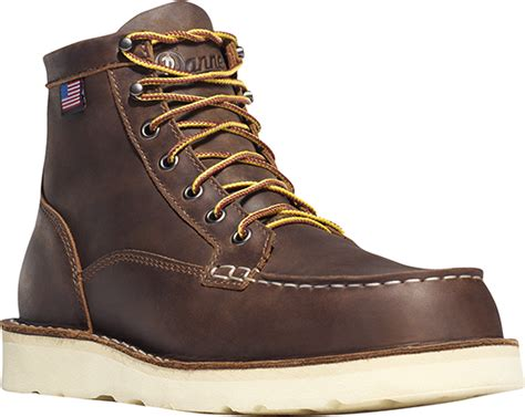 danner bull run moc toe 6 inch steel toe work boot 15564