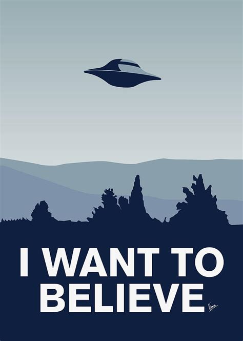 i want to be a artist my i want to believe minimal poster xfiles digital by
