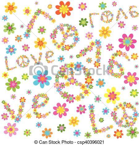 hippie bloemen behang bloemen vinyl behang bloemen naadloos patroon s