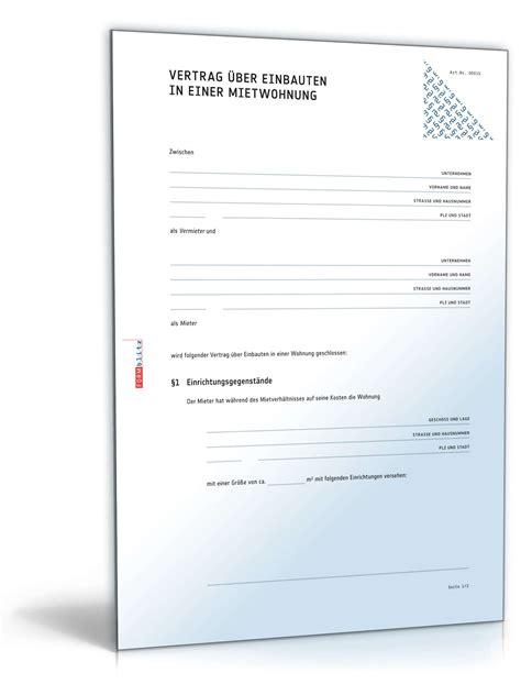 wohnung verkaufen steuer vertrag 252 ber einbauten in mietwohnung muster zum