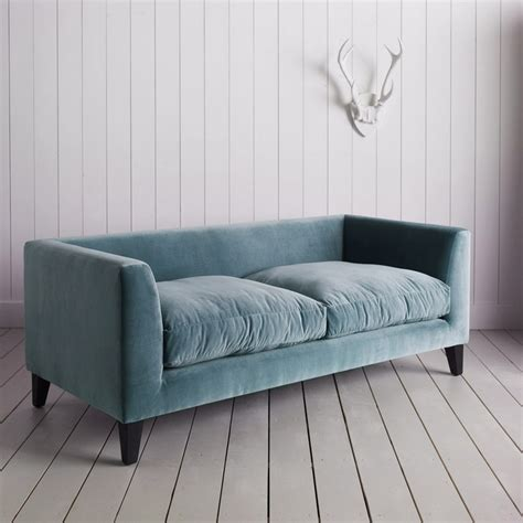 blue velvet settee graham and green snooze velvet sofa green couch pinterest