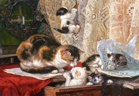 copy cat painting copy of up to no henriette ronner knip