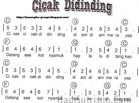 membuat lagu dengan not balok not angka dan lirik lagu cicak cicak di dinding blog