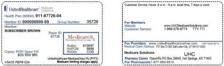 Unitedhealthcare Connected Plan Where To Find Policy Number On United Health Care Card