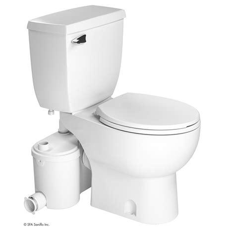 saniflo basement bathroom systems saniflo sanibest pro toilet macerator pump tank bowl