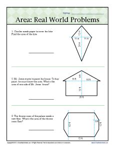 Area Worksheets 6th Grade by Area Real World Problems 6th Grade Geometry Worksheets