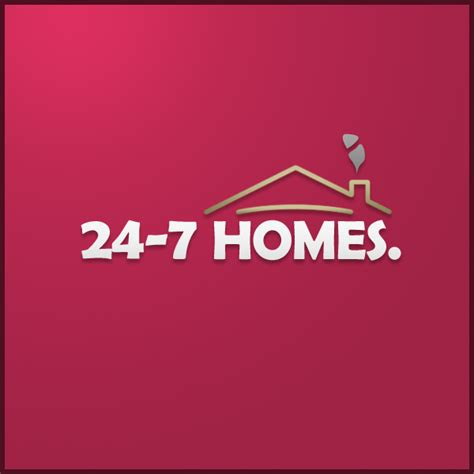 24 7 homes logo design by ryanbdesigns on deviantart