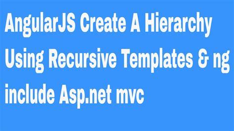 ng include ng template angularjs create a hierarchy using recursive templates