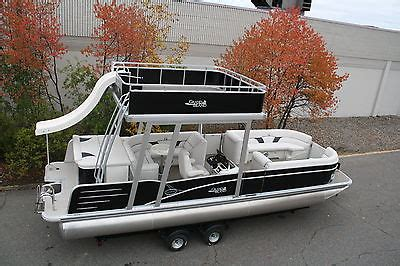 used pontoon boats with upper deck and slide for sale pontoon boat with upper deck and slide for sale