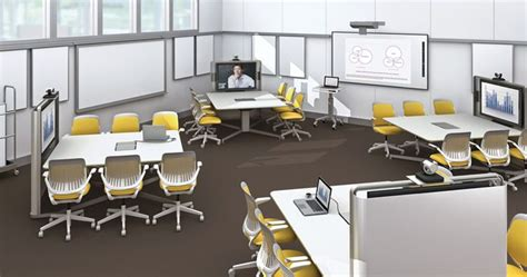 loth office furniture media scape in a classroom setting from loth collaborate products medium and