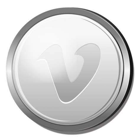 vimeo silver circle icon transparent png svg vector