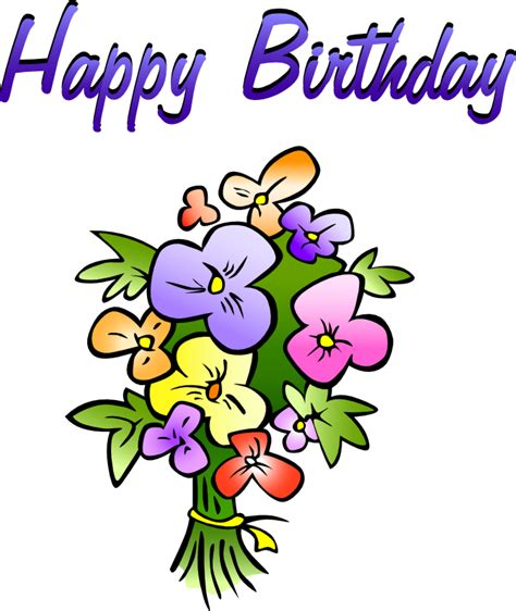 birthday clipart free birthday greetings with flowers clip