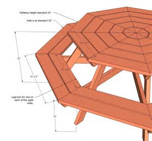 Octagon Patio Table Plans White Octagon Picnic Table Diy Projects
