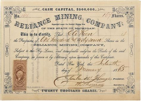reliance share certificate