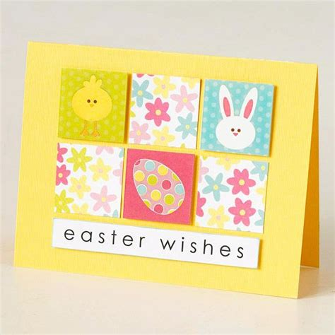 Wishes Written On Paper Make This - easy to make easter cards decorative paper easter card