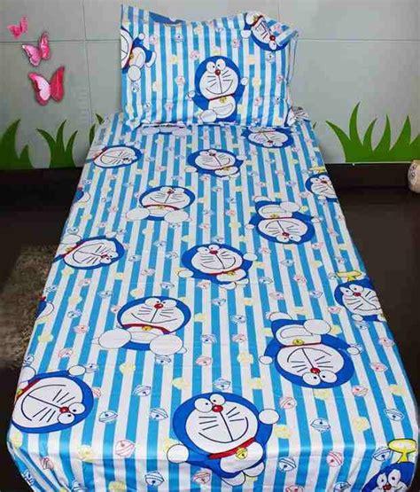 Piyama Bergambar Doraemon Stripes Pink sassoon striped doraemon single bedsheet with 1 pillow cover best price in india as on 2016
