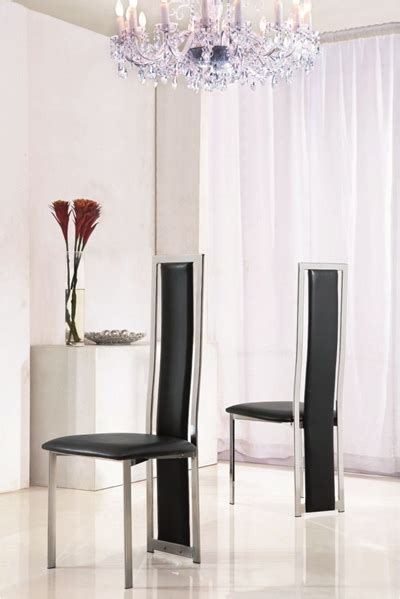 sleek high  chrome dining chairs